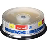 Maxell 638006 DVD-R 4.7 Gb Spindle with 2 Hour Recording Time and Superior Recording Layer Technology with 100 Year Archival
