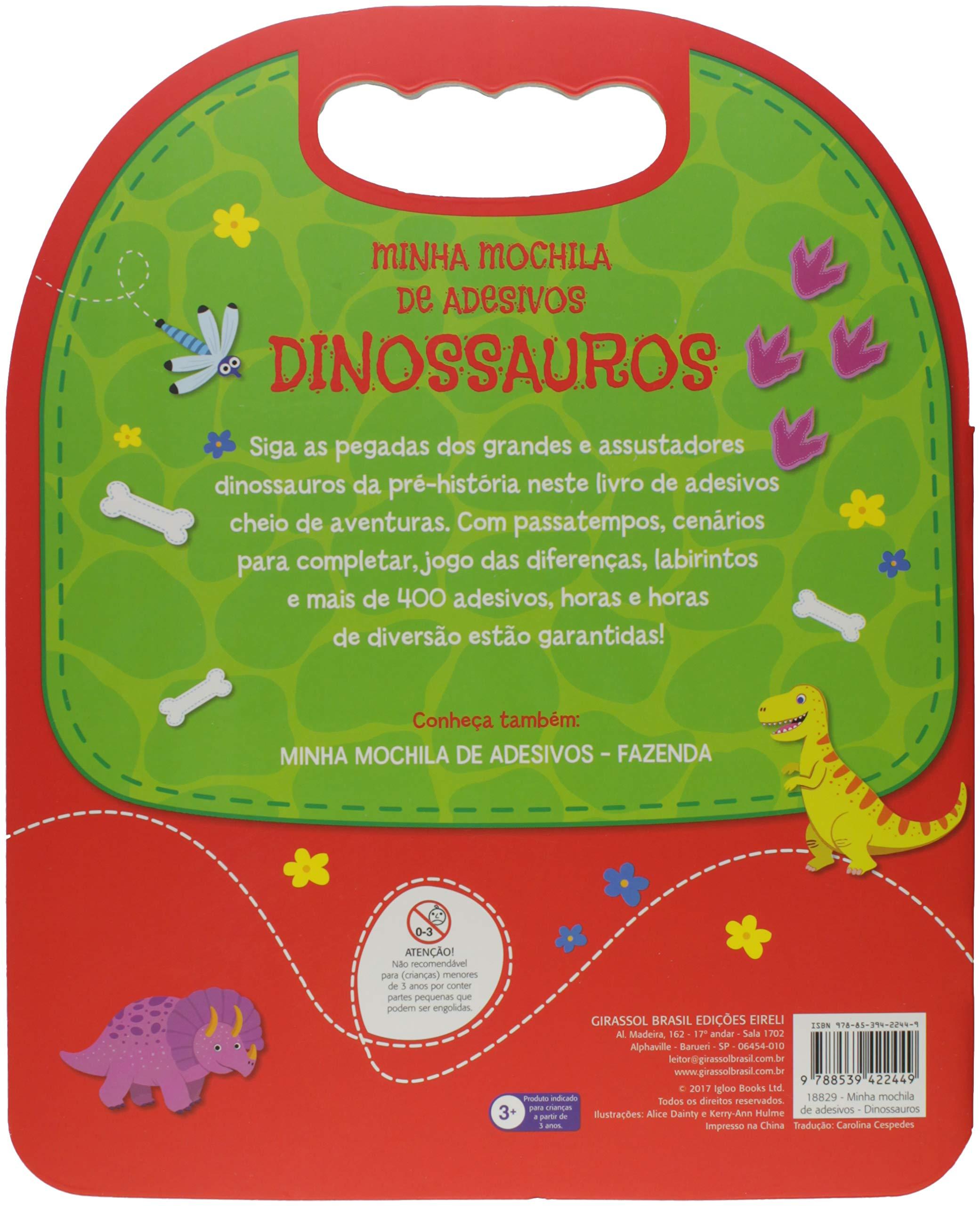 Minha Mochila de Adesivos. Dinossauros (Em Portugues do Brasil): Girassol: 9788539422449: Amazon.com: Books