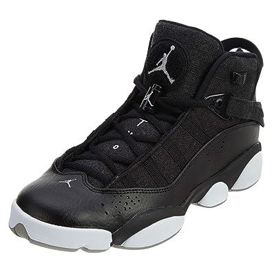 lowest price f0501 1b35f Jordan 6 Rings Black/Matte Silver-White (Big Kid) (5.5 M US Big Kid)