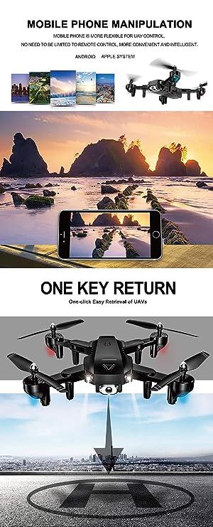 KAIFH Drone 1080 Doble Avión No Tripulado Cámara Doble Fija ...
