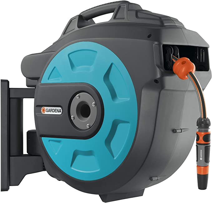 GARDENA Retractable Hose Reel 82-Feet With A Hose Guide - The Best Retractable Hose