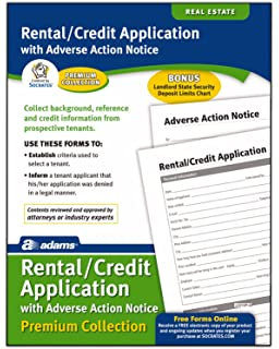 amazon com adams rental and credit application form 8 5 x 11 inch
