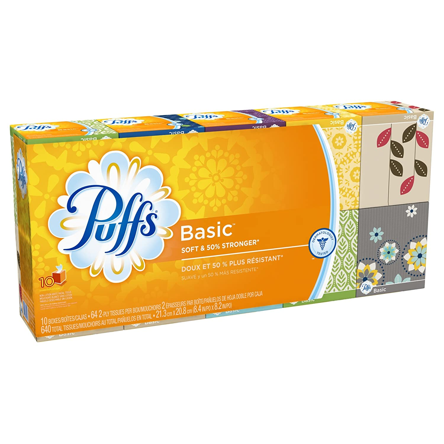 Amazon.com: Puffs Plus Lotion Facial Tissues, 3 Family Boxes, 124 Tissues Per Box: Health & Personal Care