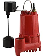 Red Lion RL-SC33V 1/3 HP Cast Iron Sump Pump with Vertical Switch