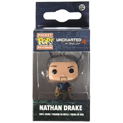 Funko Pocket POP Uncharted Nathan Drake Action Figure Keychain: Toys & Games