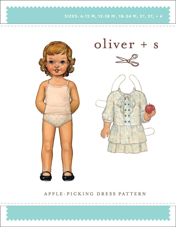apple-picking patrón de costura para vestidos (tallas 6 M-4): Liesl ...