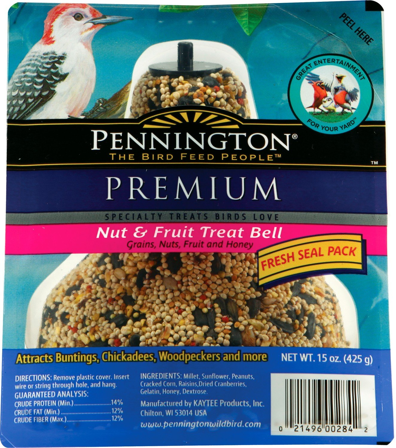Pennington Seed Fruit and Nut Bell Bird Feeder 515886