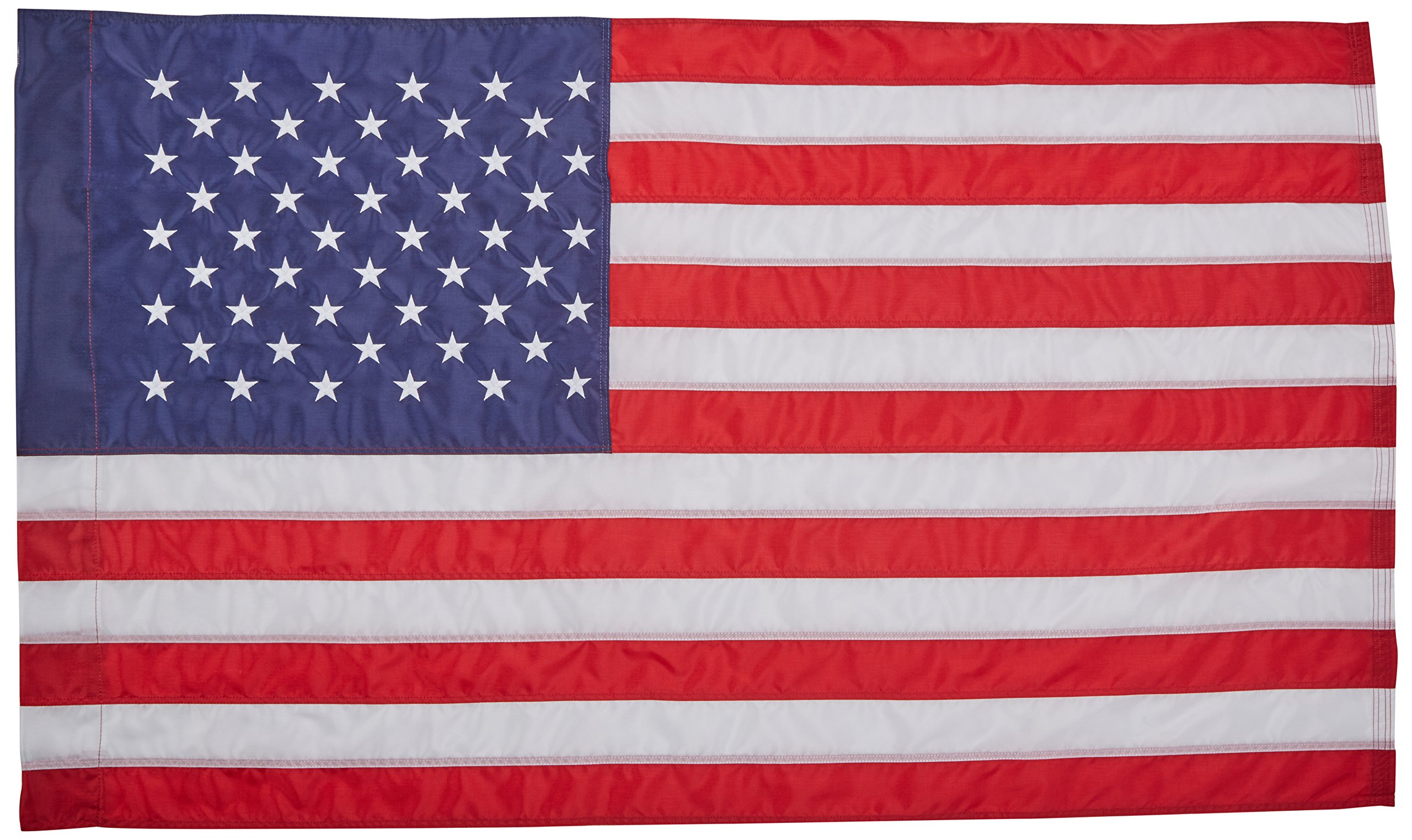 Annin Flagmakers Model 21850 American Flag 2 ½ x 4 ft. Nylon SolarGuard Nyl-Glo, 100% Made in USA with Sewn Stripes, Embroidered Stars and Banner-Style Pole Sleeve.