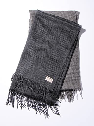 Cashmere Glen Plaid Scarf 1436-699-1753: Grey, Olive