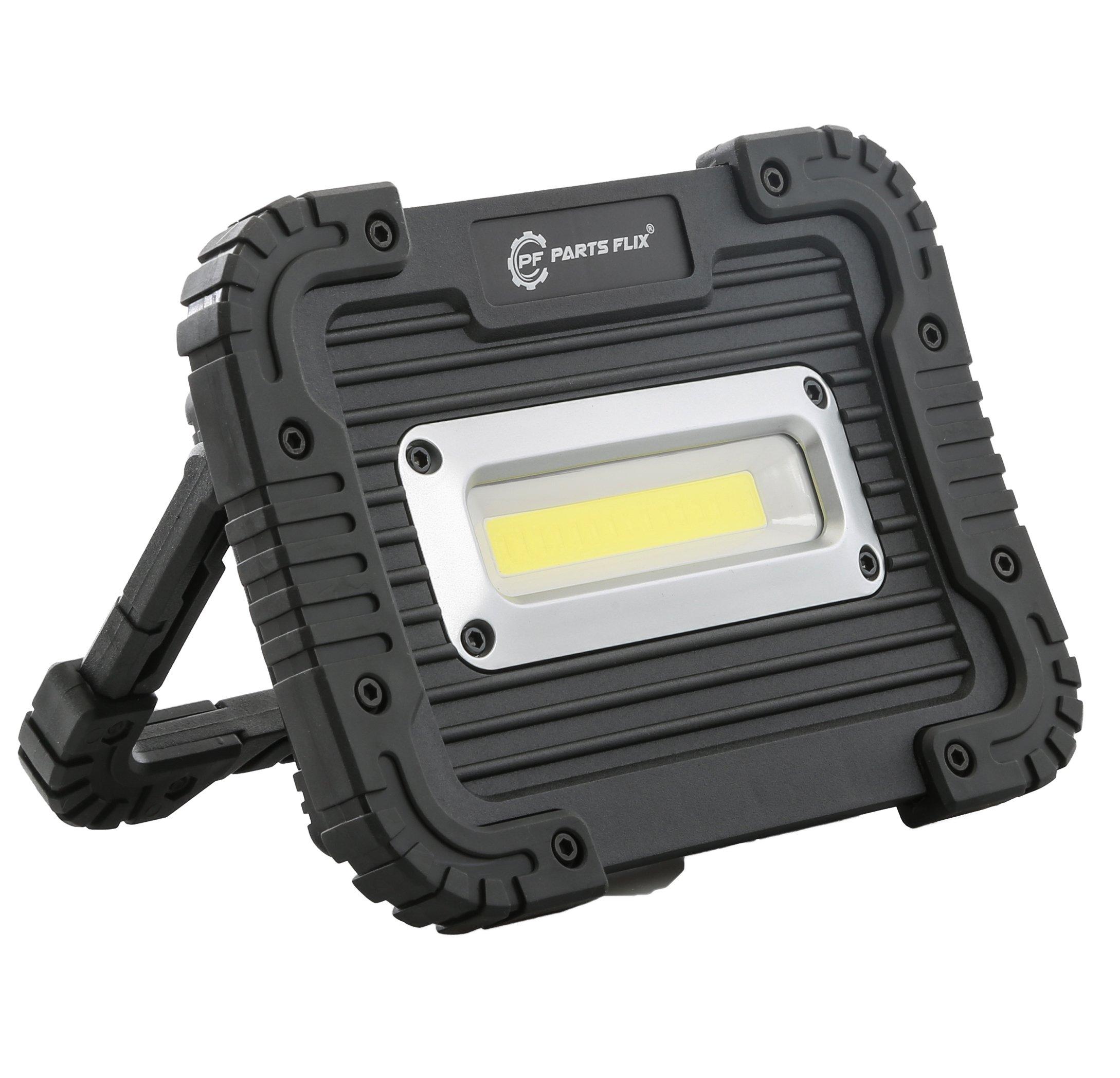 Parts Flix Ultra Bright Spotlight Rechargeable Portable LED Work Light,Outdoor Waterproof Flood Lights (PF-W5112-B)