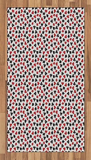 Amazon.com: Poker Area Rug by Lunarable, Heart Spades Diamonds and ...