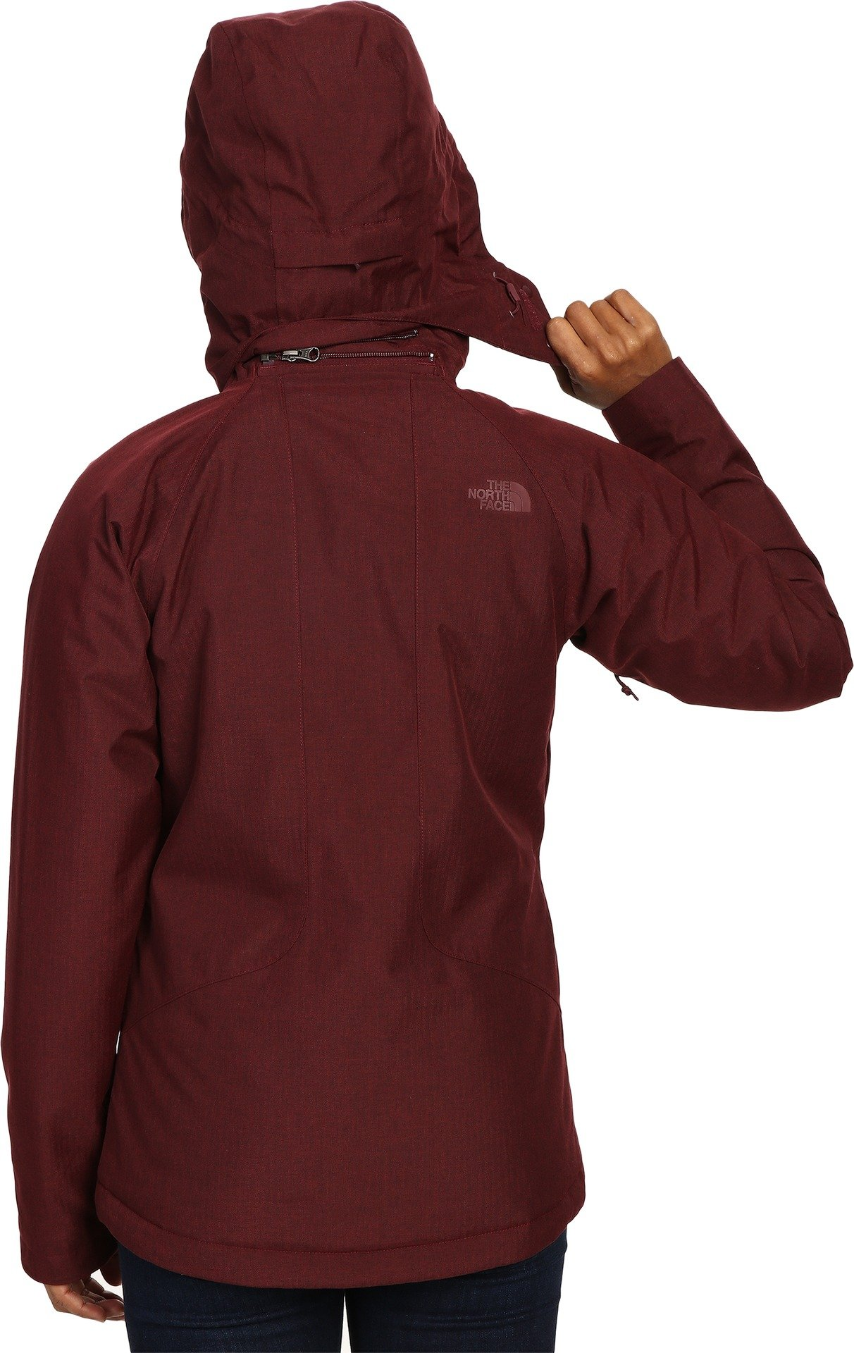 The North Face Women's Inlux Insulated Jacket Deep Garnet Red Heather (Prior Season) X-Small by The North Face (Image #3)