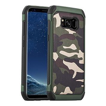 Carcasa Galaxy S8, JAMMYLIZARD Funda Resistente Diseño Camuflaje [ Army ] TPU Heavy Duty Case Cover Para Samsung Galaxy S8, VERDE