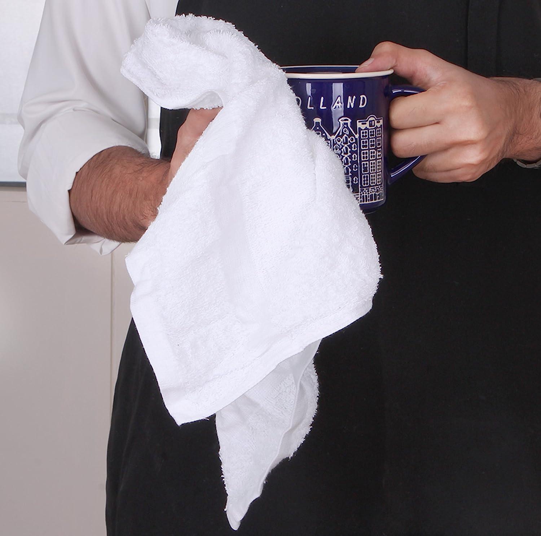 Utopia White Cotton Kitchen Towels