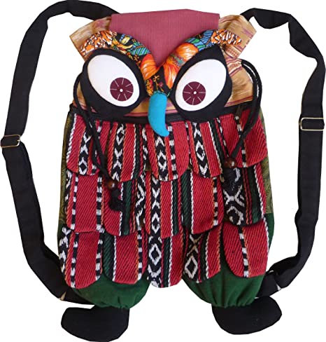 Las niñas mochila de algodón, con diseño de búho: Amazon.es ...