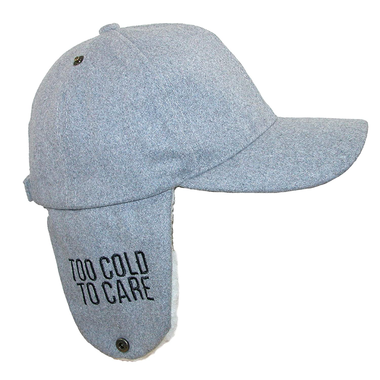 David & Young Women's Too Cold to Care Baseball Cap with Ear Flaps Grey