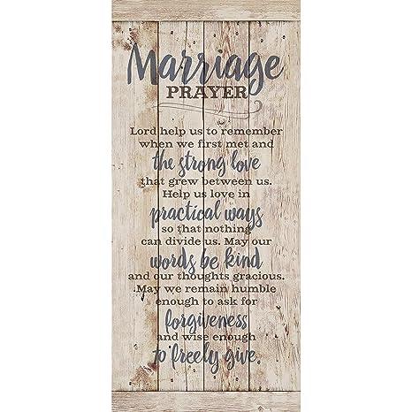 Amazon.com: Marriage Prayer Wood Plaque Inspiring Quote 5.5 ...