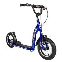 BIKESTAR Roller Kinderroller Tretroller Kickscooter mit Luftreifen für Jungen und Mädchen ab 6-7 Jahre ★ 12 Zoll Sport Kinder Scooter ★