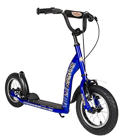 BIKESTAR Original Safety Pro Sport Push Kick Scooter Kids With Brakes Mudguard And Air Tires For Age 7 Year Old Children Boys Girls