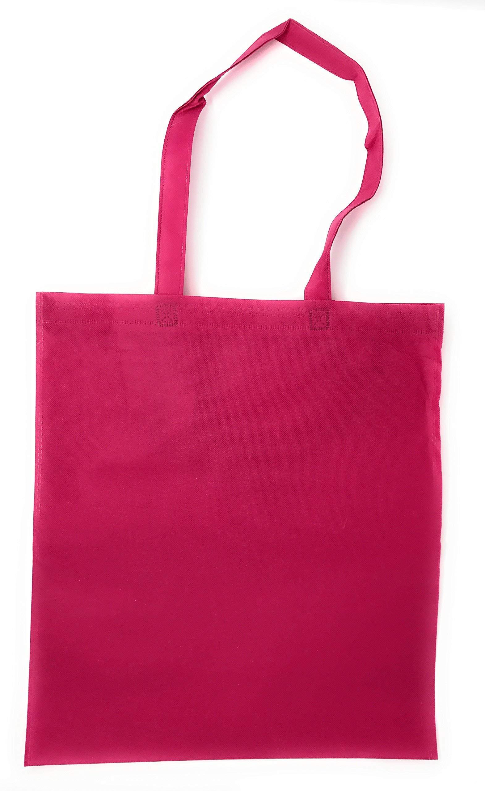 50 Bulk Large Tote Bag Mega Pack - 15'' x 16'' Reusable Shopping Bags (Multicolor)