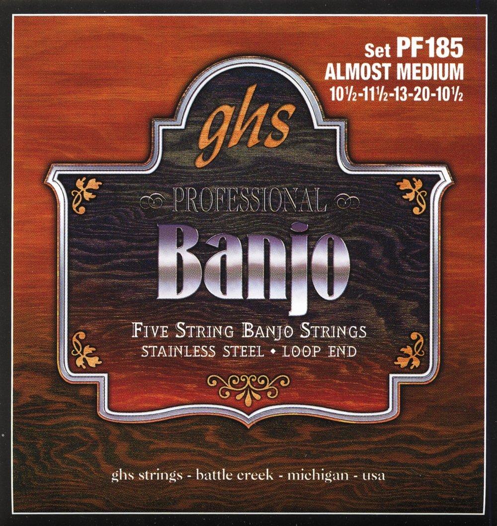 GHS Stainless Steel 5-String Banjo Strings - Almost Medium PF185