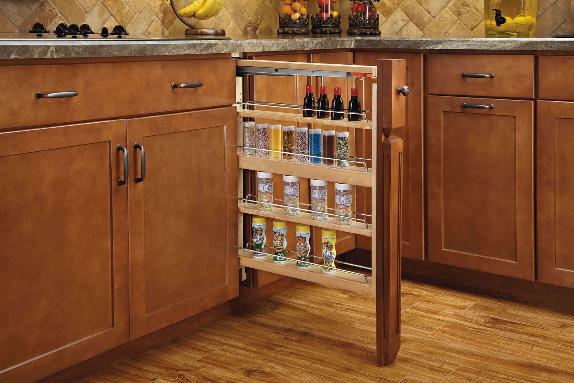 Rev-A-Shelf 432-BFSC-6C Pull-Out Between Cabinet Base Filler with Soft-Close Slides, 6 Inch , Natural by Rev-A-Shelf