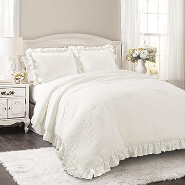 Lush Decor Lush Décor Reyna 3 Piece Comforter Set, King, White