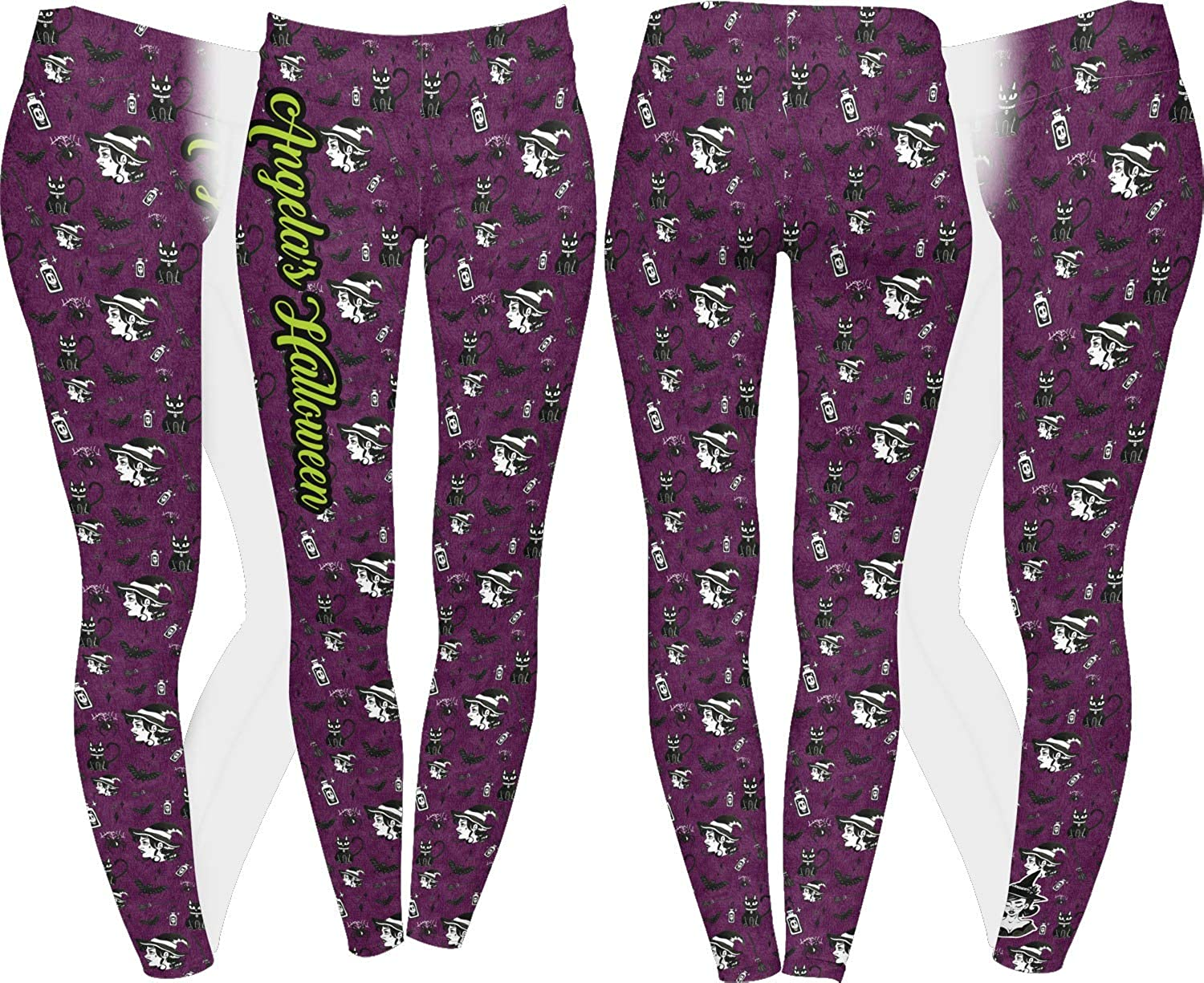 Personalized Witches On Halloween Ladies Leggings