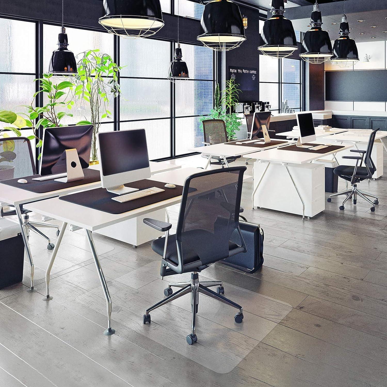 ad alta resilienza misure 120 x 90/cm per facilitare lo scorrimento delle sedie MVpower antiscivolo tappetino di protezione per pavimento in PVC trasparente