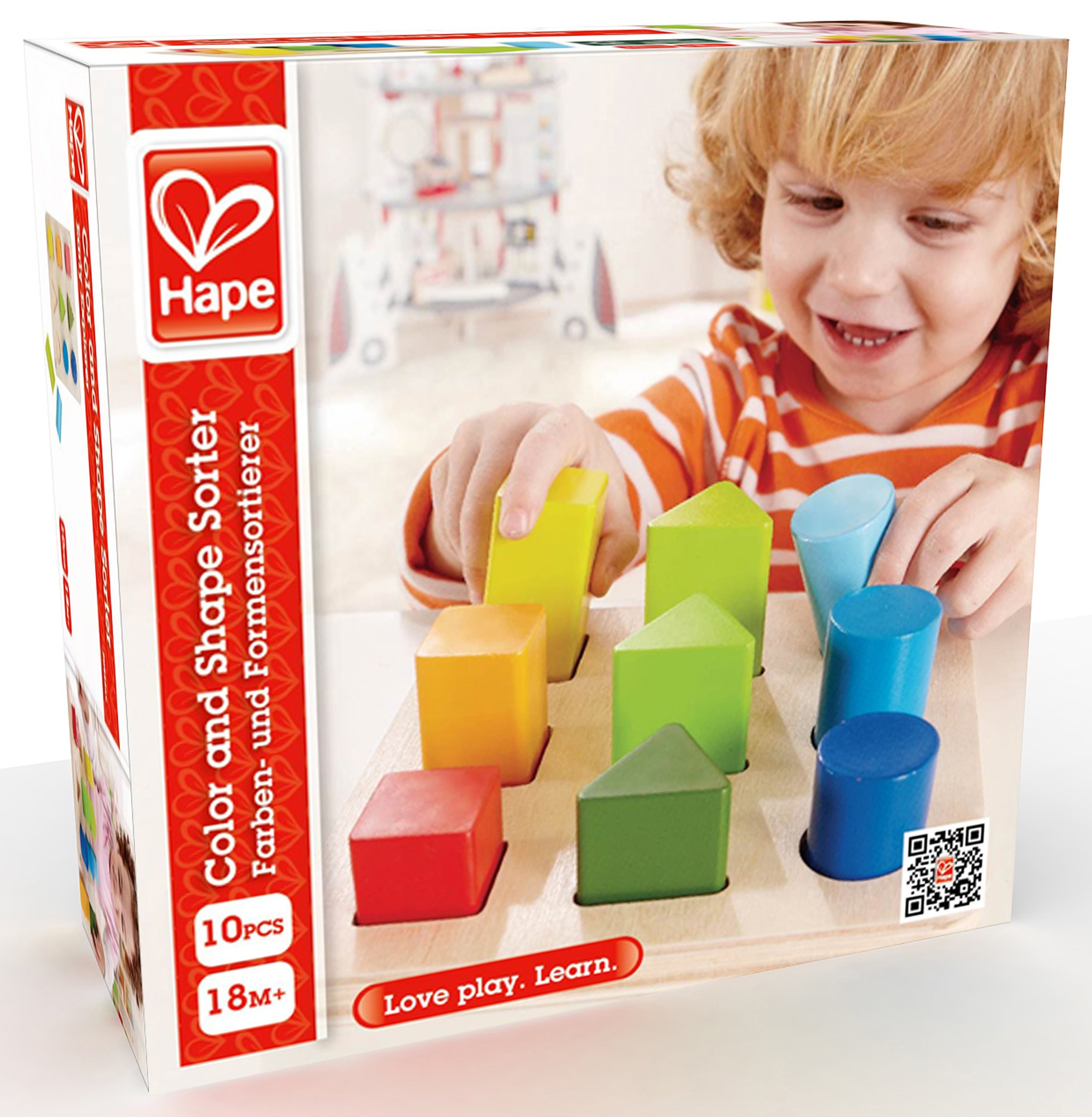 Hape Color and Shape Wooden Block Sorter by Hape (Image #6)