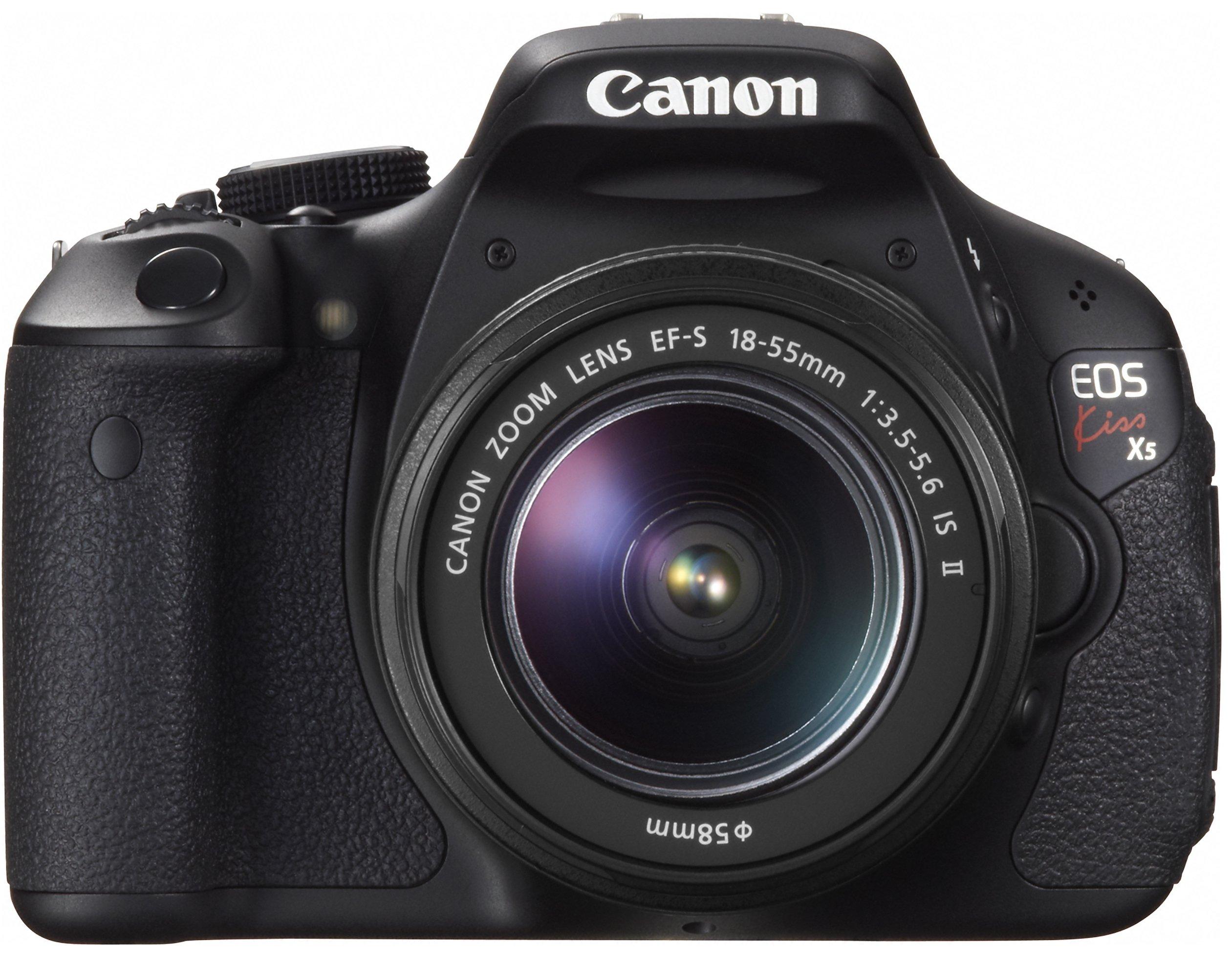 Canon デジタル一眼レフカメラ EOS Kiss X5 レンズキット EF-S18-55mm F3.5-5.6 IS II付属 KISSX5-1855IS2LK product image