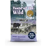 Taste of the Wild Sierra Mountain Grain-Free Canine Recipe with Roasted Lamb Dry Dog Food for All Life Stages, Made with High