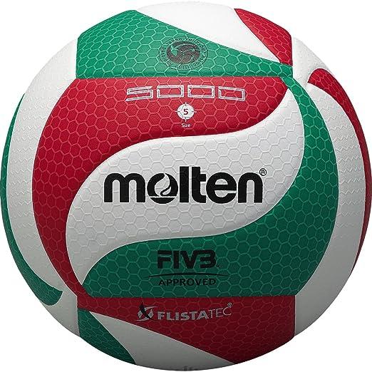 68 opinioni per Molten- V5M5000, Pallone da pallavolo, colore: Bianco/Verde/Rosso