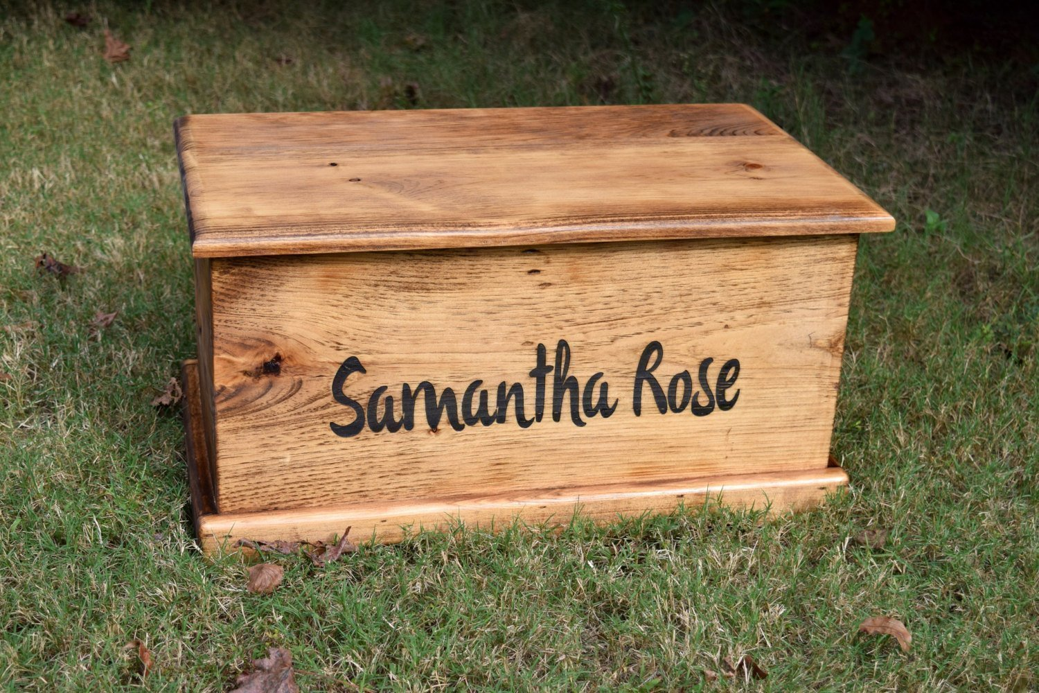 Laser Engraved Personalized Kids Toy Box - Engraved Toy Box - Personalized Toy Box - Children's Toy Box - Kids Memory Box - Gift for Kids - Wood Toy Box - Treasure Chest by Country Barn Babe (Image #3)