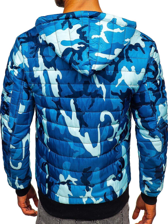 BOLF Blouson de Transition Veste Camo Militaire Homme Mix 4D4 Bleu_my13m