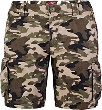 westAce Mens Army Casual Work Cargo Combat Camouflage Shorts 6 Pocket Half Pants