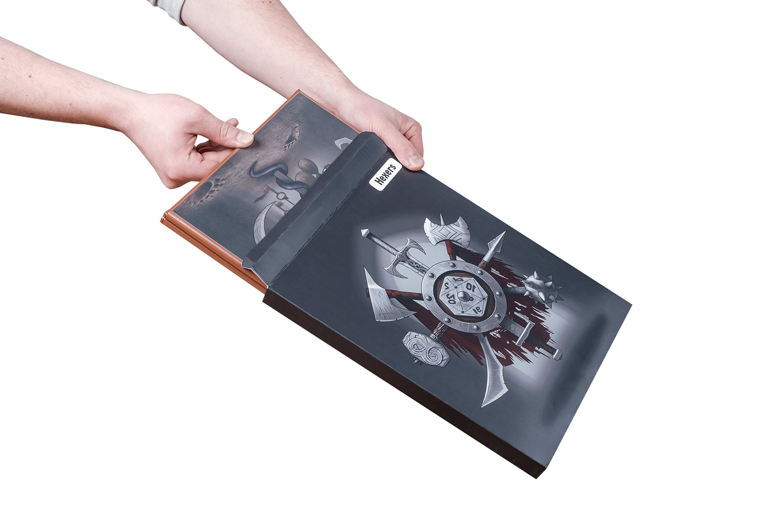 Hexers Game Master Screen - Dungeons and Dragons D&D DND DM Pathfinder RPG Role Playing Compatible - 4 Customizable Panels - Inserts Included That Slide into The Pouches - Dry Erase Tracker Sheet by Hexers (Image #6)
