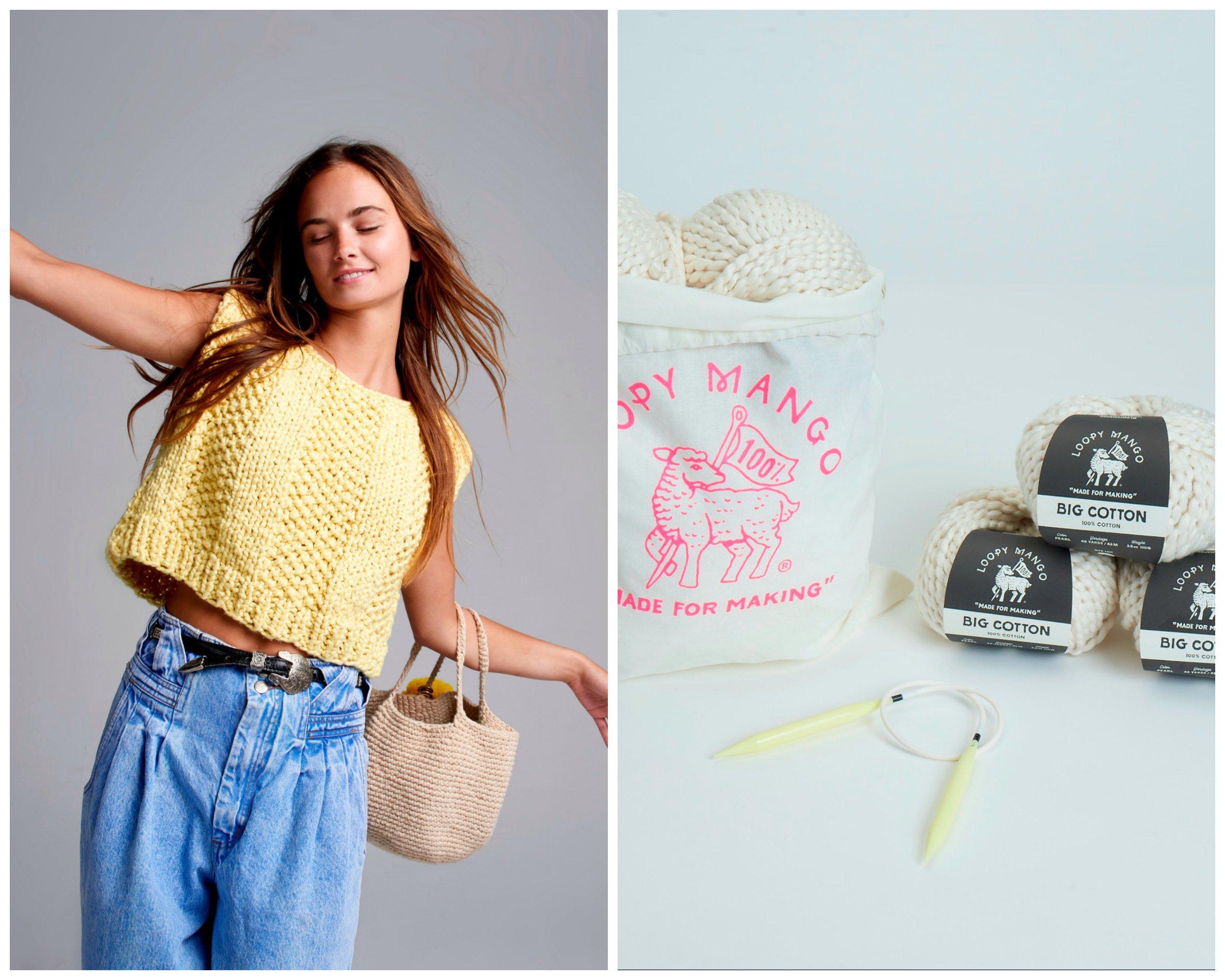 Loopy Mango DIY Kit - SMALL/MEDIUM Always Summer Top - Big Cotton (Castaway)