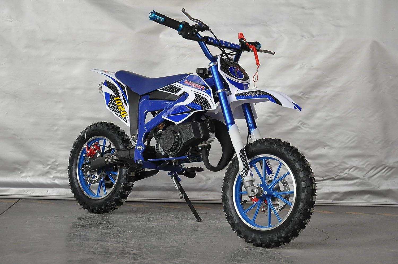XTM Team Cross Mini PITBIKE con motore da 49/cc a 2/tempi Moto di Mini Cross 112x35x58 cm rosso Mini Dirt Bike
