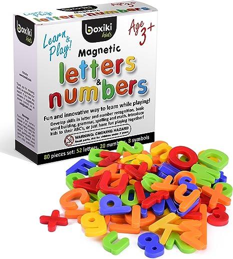 Kids Learning Teaching Magnétique Jouet Lettres /& Chiffres Réfrigérateur Alphabet Aimants