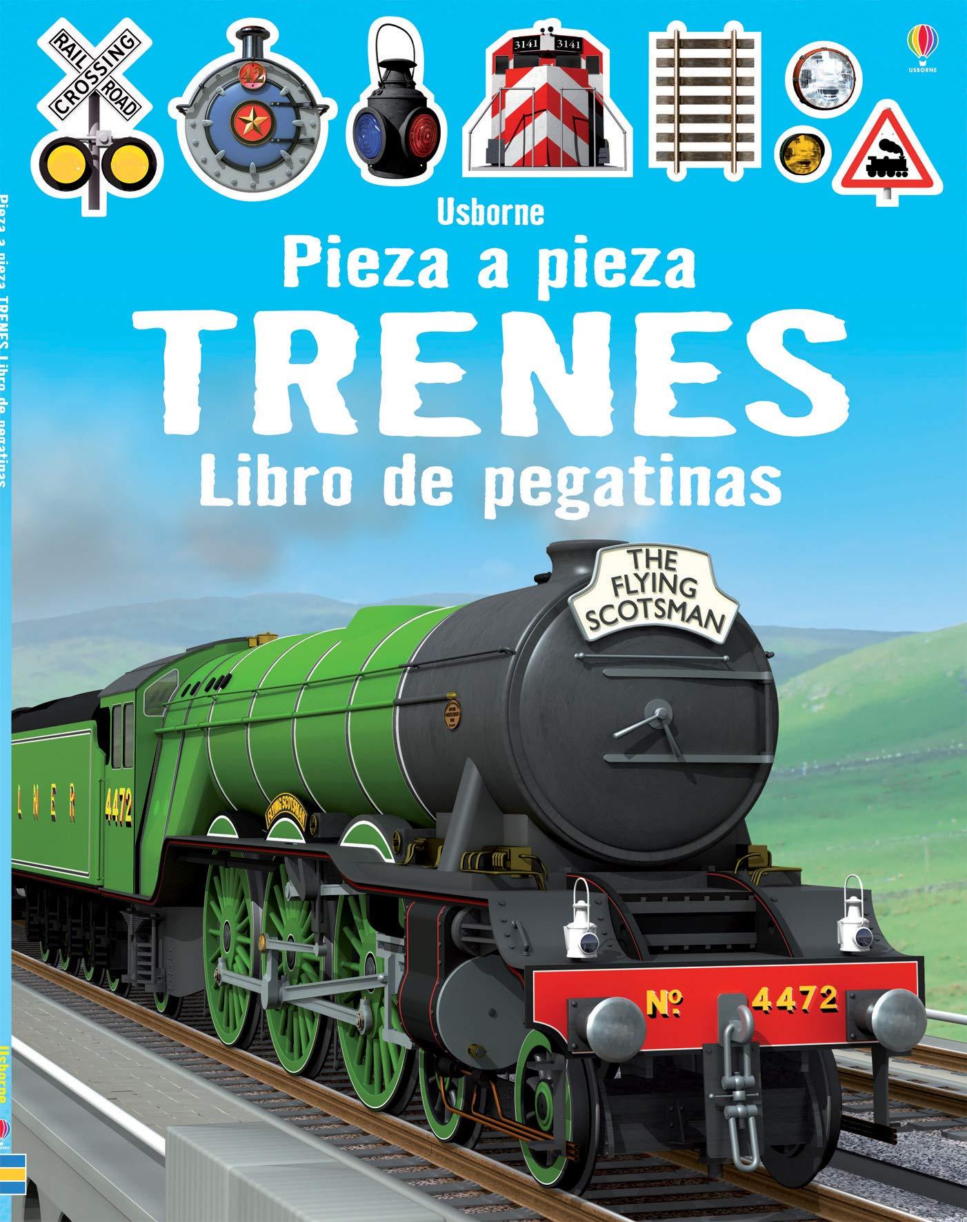 Trenes. Pieza A Pieza. Libro De Pegatinas: Amazon.es: Simon ...