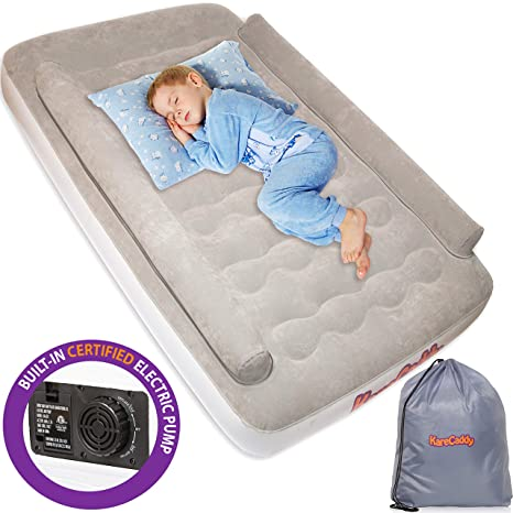 Toddler Bed Air Mattress.Karecaddy Toddler Air Mattress Kids Airbed With Built In Electric Pump Kids Air Mattress With Sides Rails Inflatable Toddler Travel Bed With