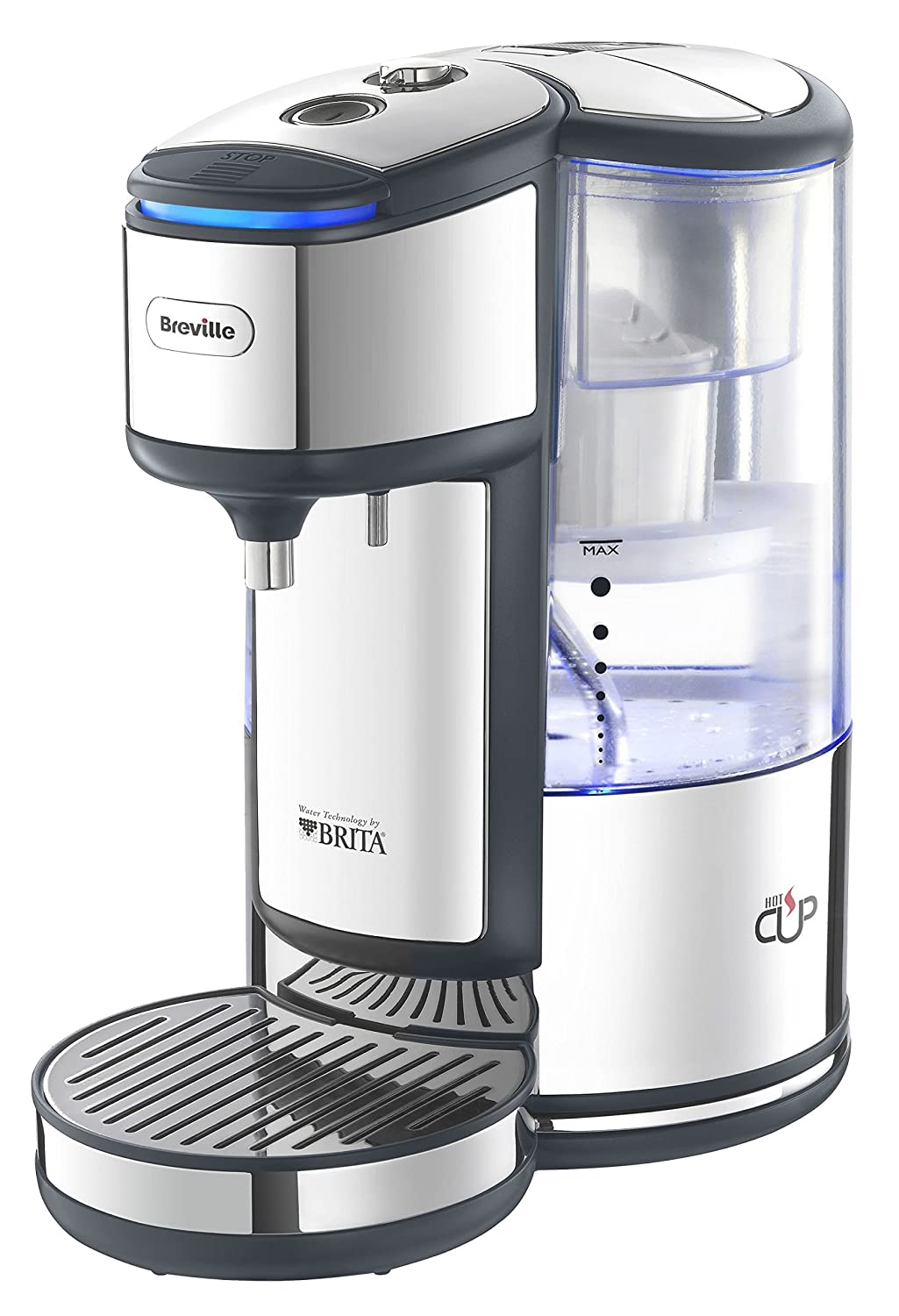 Breville BRITA HotCup Hot Water Dispenser with Variable Dispense, 1.8 Litre, Stainless Steel