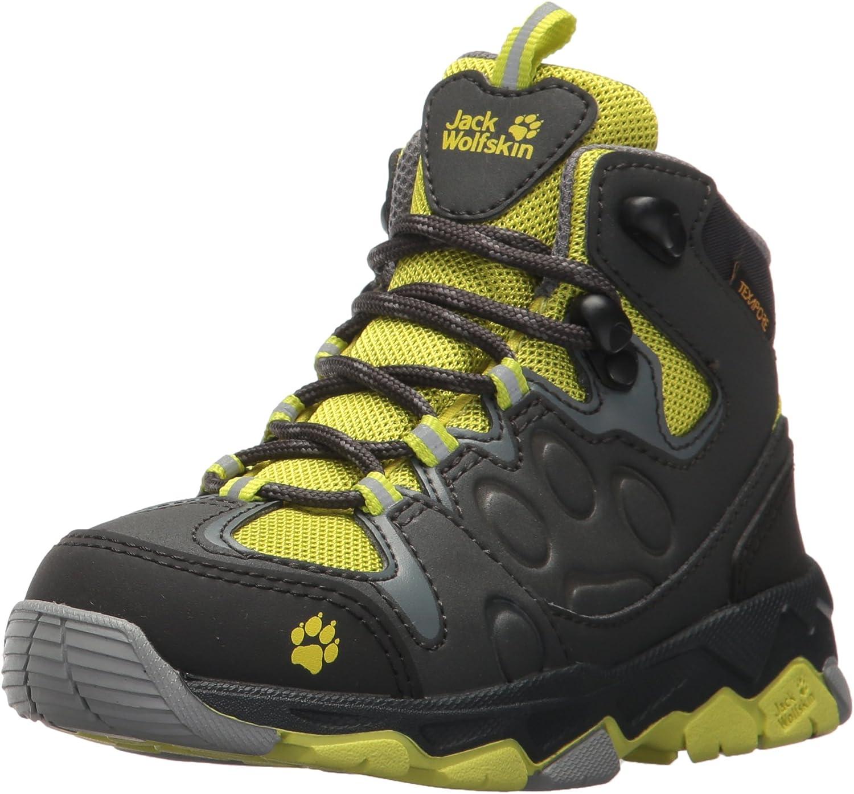 flashing green Jack Wolfskin Unisex MTN Attack 2 Texapore MID K Hiking Boot 13 M US Little Kid