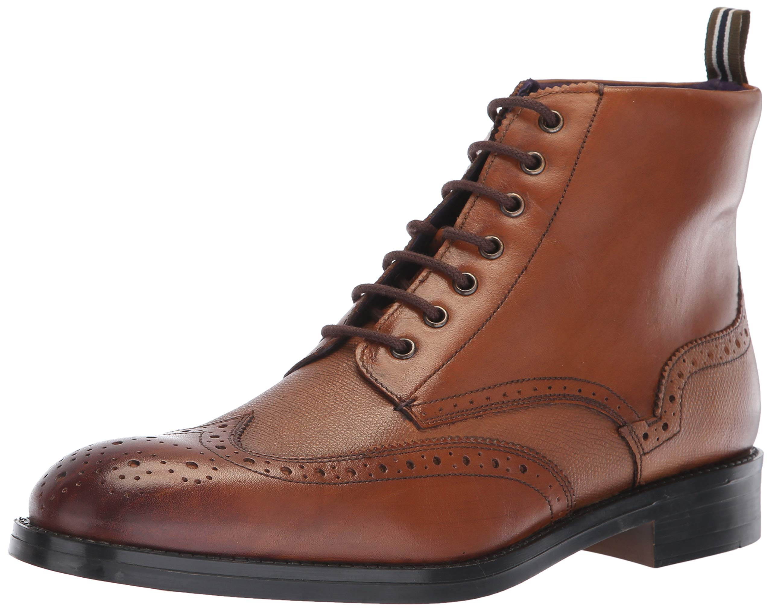 Ted Baker Men's TWRENS Oxford Boot, tan Leather, 10 M US by Ted Baker