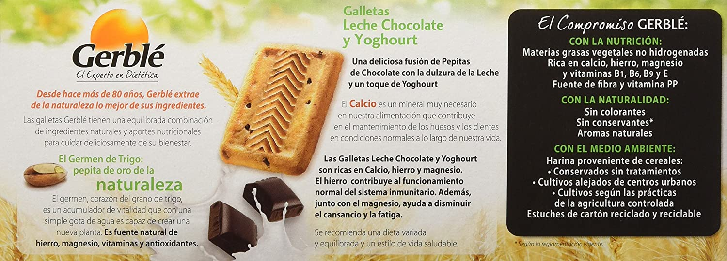 Gerblé Galletas con Leche Chocolate Y Yoghourt - 230 g: Amazon.es: Amazon Pantry
