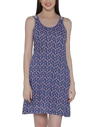 870e826548 Clovia Women's Cotton Rich Printed Short Nighty: Amazon.in: Clothing ...