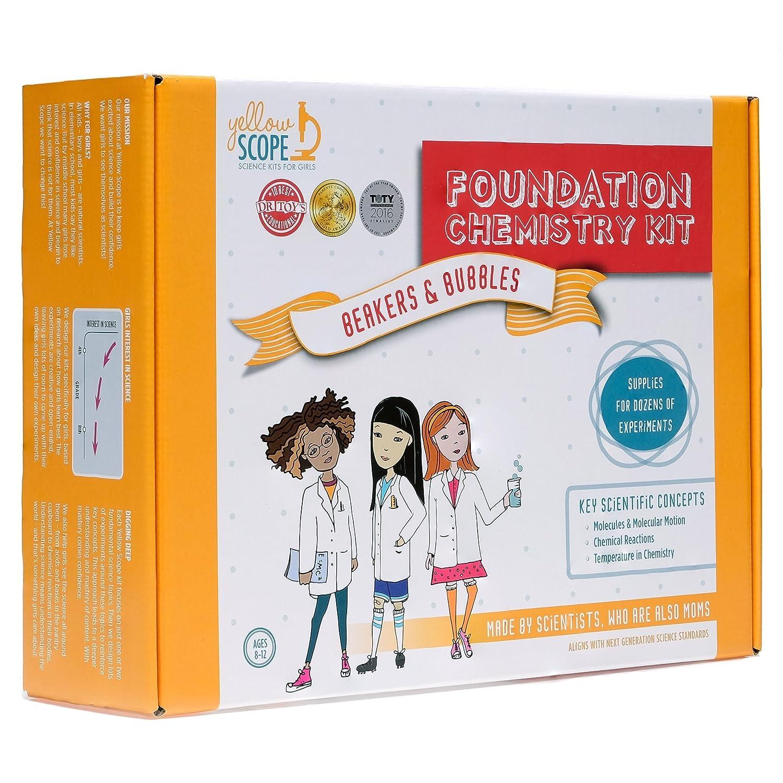 Yellow Scope Foundation Chemistry Kit Dozens of STEM Experiments That Take Girls Seriously