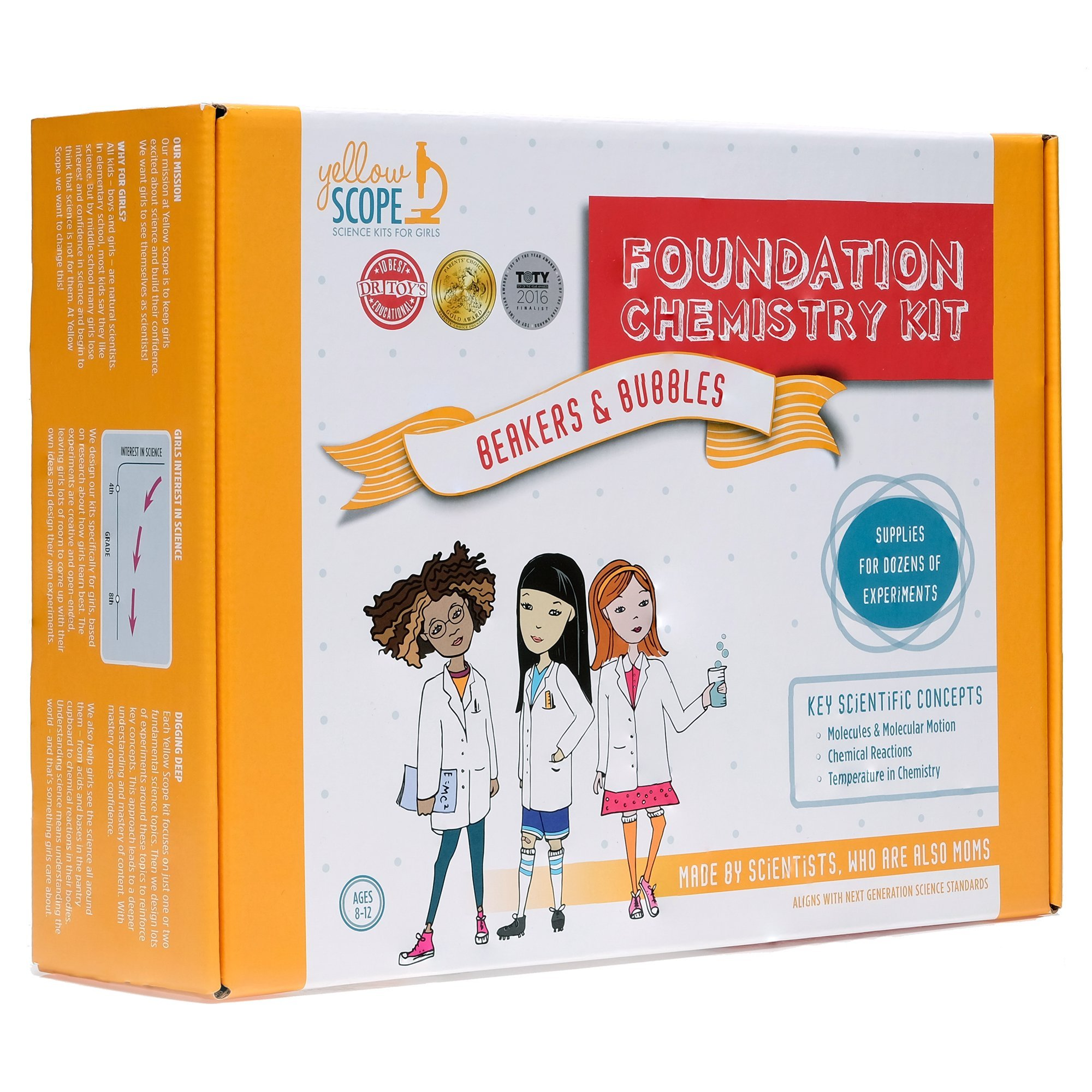 Yellow Scope - Foundation Chemistry Kit: Dozens of STEM Experiments That Take Girls Seriously by Yellow Scope