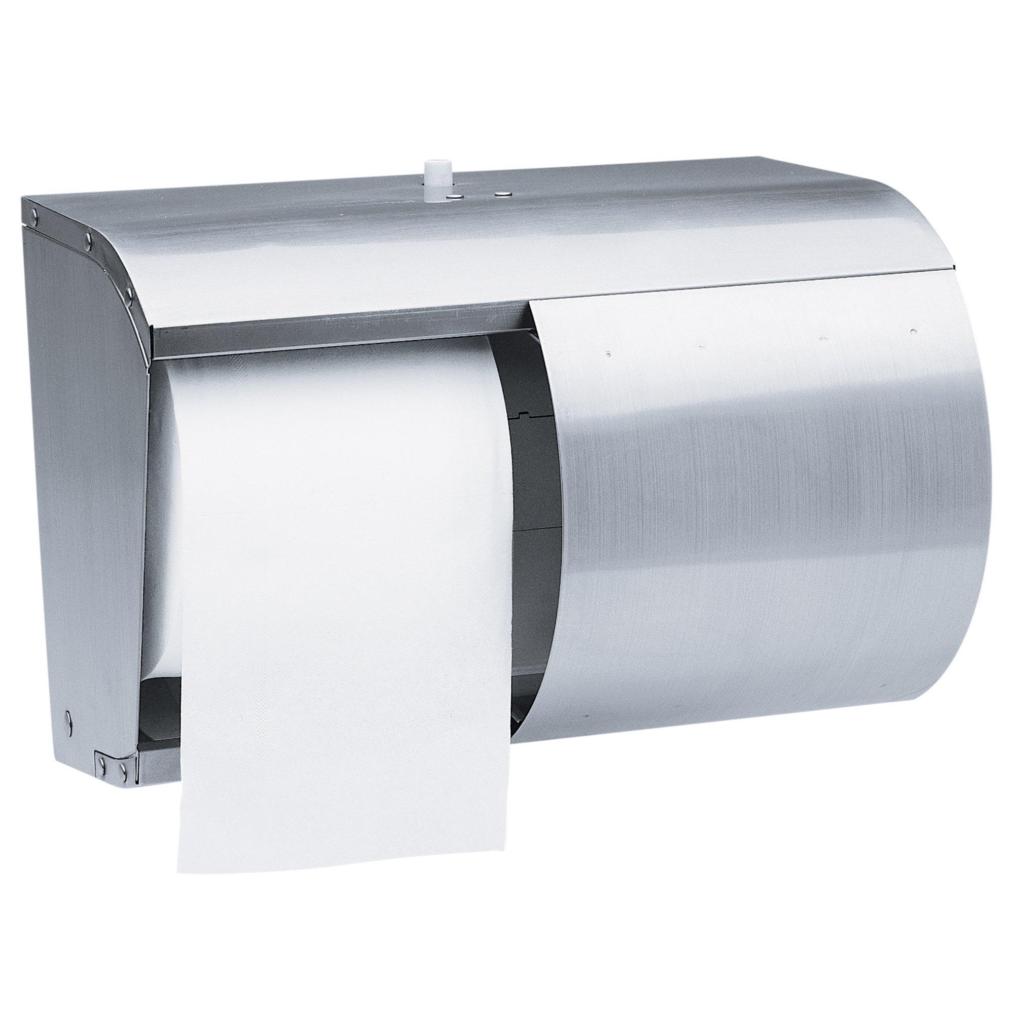 Kimberly Clark Professional Double Roll Coreless Toilet Paper Dispenser (09606), Stainless Steel